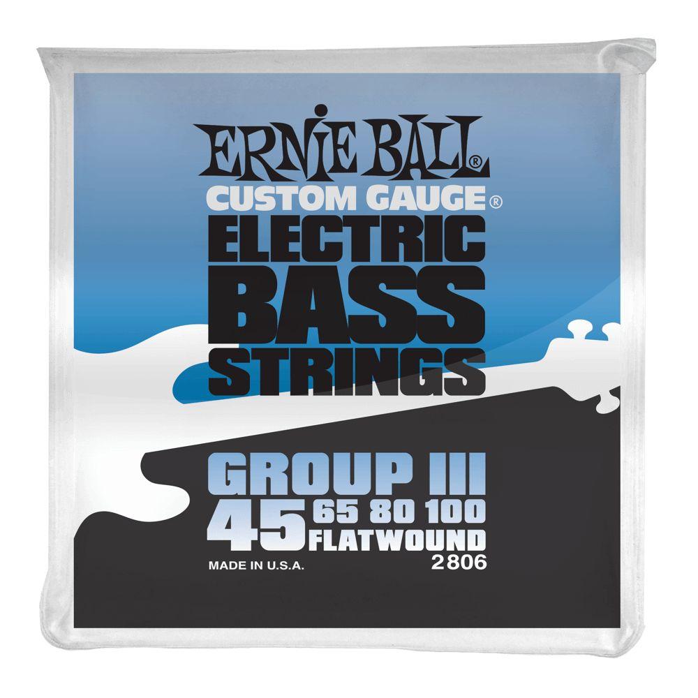 Ernie Ball Ernie Ball 2806 4-String Flatwound Bass Set, 45-100