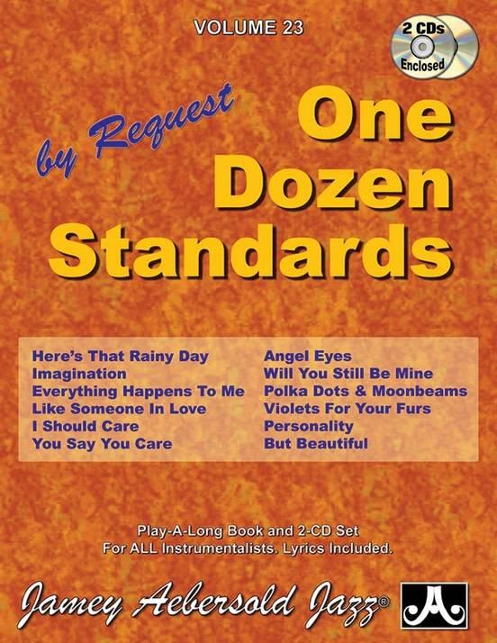 Jamey Aebersold Jazz, Volume 23: One Dozen Standards by Request Book &  2 CDs