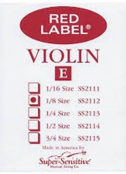 Super-Sensitive Red Label 1/8 Single Violin E String