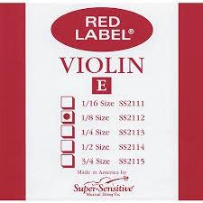 Super-Sensitive Red Label 1/8 Single Violin E String