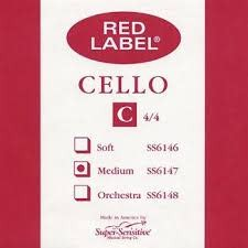 Super-Sensitive Red Label Single 4/4 C Cello String
