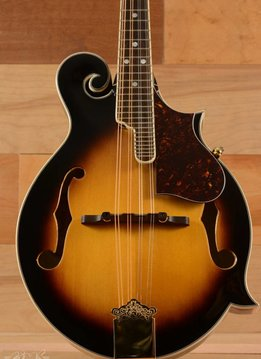 "Fender Fender FM-63S Mandolin, Sunburst, ""F"" Style, Carved Solid Spruce Top, Mother of Pearl Inlays"