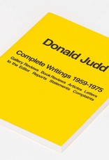 Judd Foundation Donald Judd: Complete Writings 1959-1975