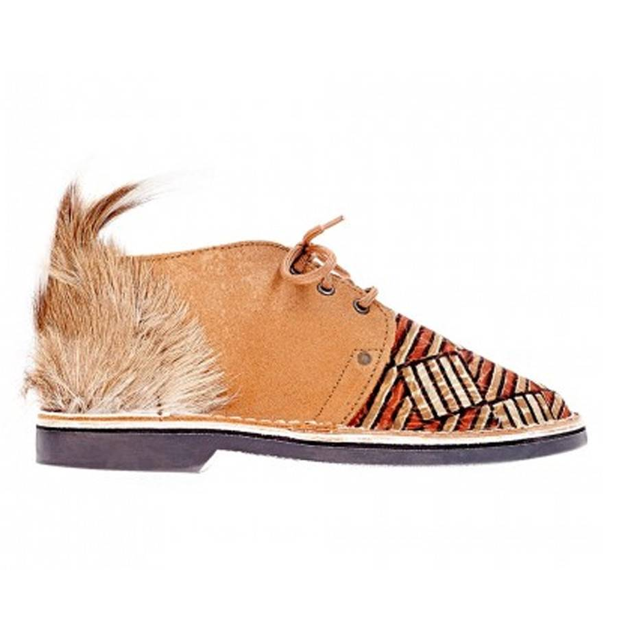 Brother Vellies Stripes Shoe by Mickalene Thomas x Brother Vellies