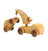 Debresk Debresk wooden toy - small crane lorry & mini car