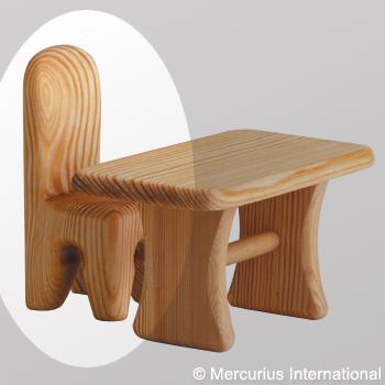 Debresk Debresk wooden toy - doll chair