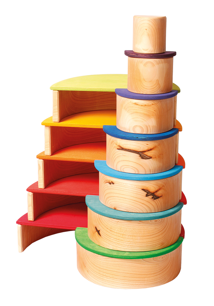 Grimm's Large Semicircles, rainbow (11 pcs)