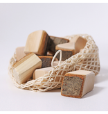 Grimm's Blocks Large With Bark, Natural 15 Pcs. (in Net Bag)