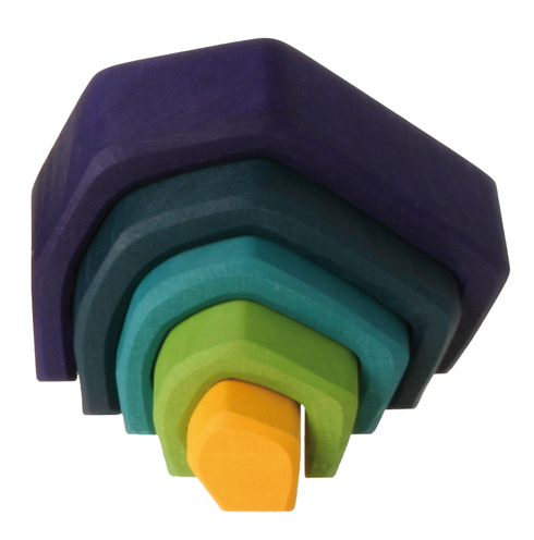 Grimm's Small Earth, Blue-Yellow 5 Pcs.