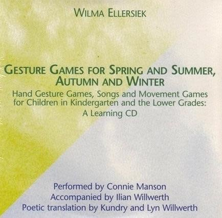 Waldorf Publications Gesture Games for Spring and Summer, Autumn and Winter CD