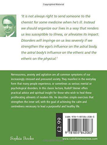 Rudolf Steiner Press How To Cure Nervousness