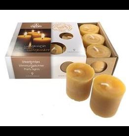Dipam Dipam Beeswax Votive candles - SF9- 1 box, 9 pcs