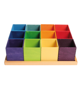 Grimm's Sorting Help For Beads, 12 Pcs. In A Wooden Frame