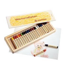 Stockmar Stockmar stick crayons 24 assorted wood box
