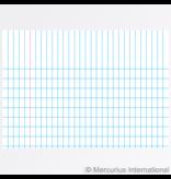 Mercurius Exercise book graph 16x21cm, 4x7mm graph - red