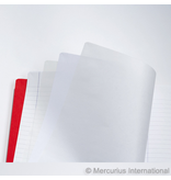 """Mercurius Main lesson book lined/blank/onion - red- med 8.25"""" x 9.25"""" (21x25cm)"""