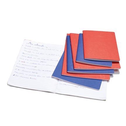 "Mercurius Main lesson book 2xlined/blank/onion - blu- med 8.25"" x 9.25"" (21x25cm)"
