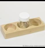 Mercurius Wooden holder for 3 glass paint jars 50ml