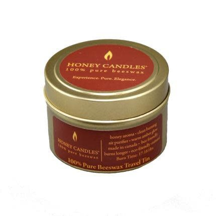 Honey Candles Gold Travel Tin - Beeswax