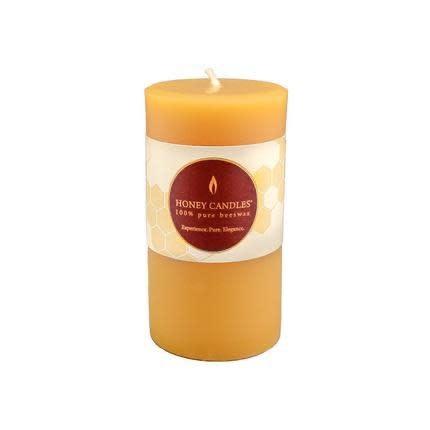 "Honey Candles Small Pillar 3"" x 2"""