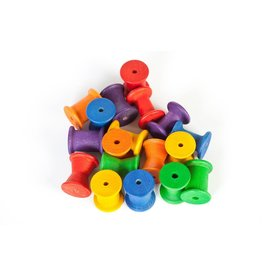 Grapat Wood Coloured Spools 18 pcs