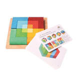 Grimm's Puzzle Square Small with template 12 pcs
