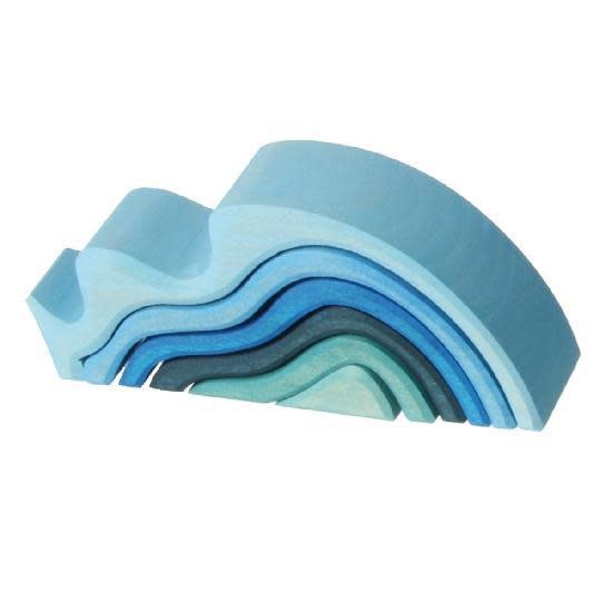 Grimm's Small Water Waves, Blue 6 Pcs.