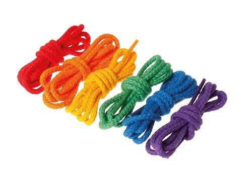 Grimm's Rainbow Cords for Threading Beads 6 pcs