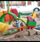 Grimm's Building Set Wooden Train 17 pcs