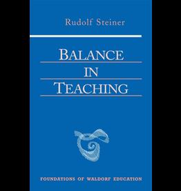Steiner Books Balance In Teaching