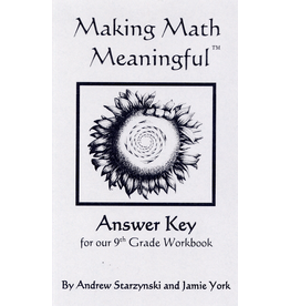 Jamie York Press Making Math Meaningful: A 9th Grade Workbook - Answer Key