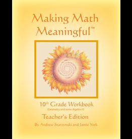 Jamie York Press Making Math Meaningful: A 10th Grade Workbook Teacher's Edition