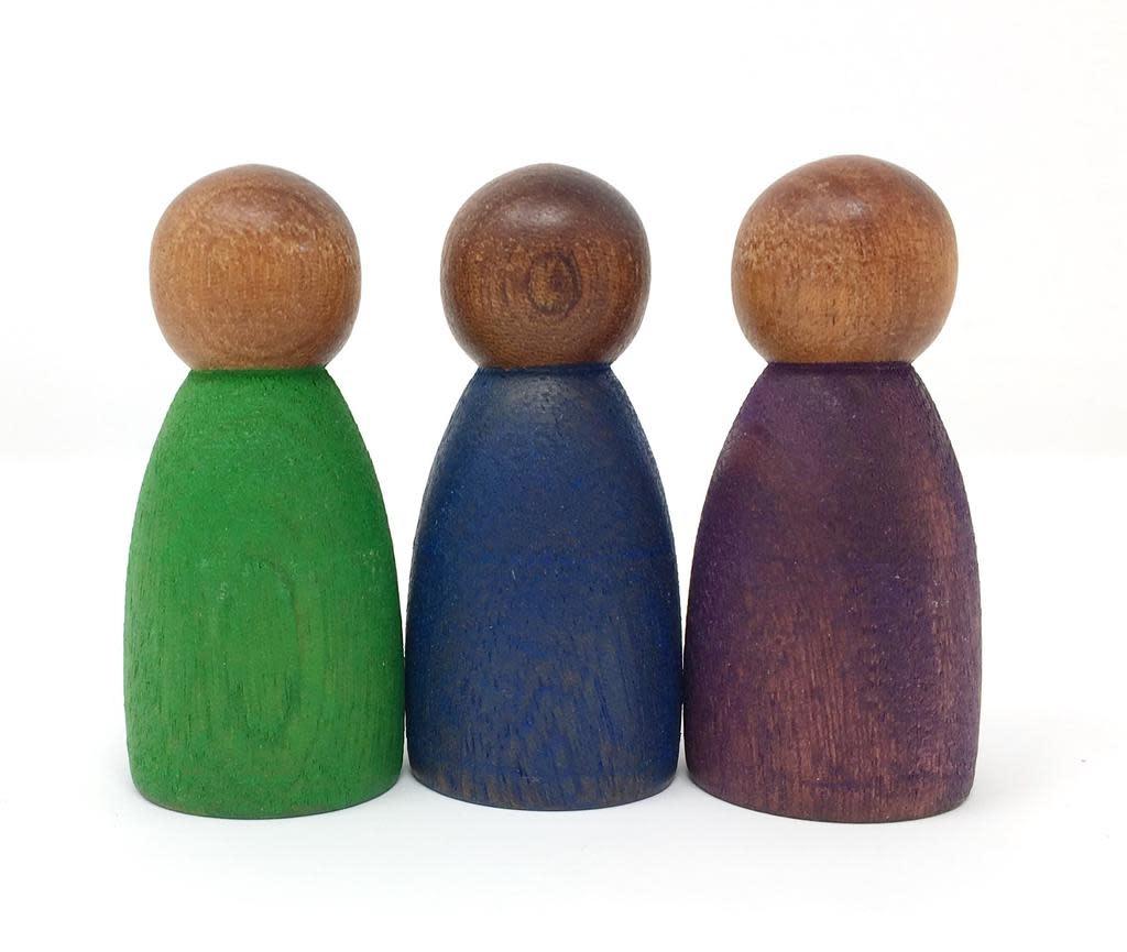 Grapat Wood Dark Cool Colour Nins 3 pcs