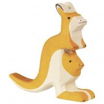 Holztiger Kangaroo with young