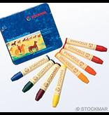 Stockmar Stockmar stick crayons 8 assorted Waldorf mix