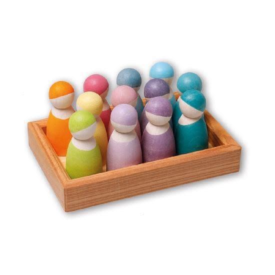 Grimm's 12 Pastel Rainbow Friends