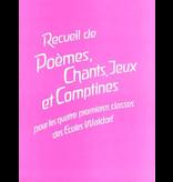 Padagogische Forschungsstelle Recueil de poèmes, chants, jeux et comptines
