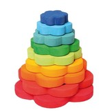 Grimm's Deco Flower Stacking Tower, Multi-Coloured