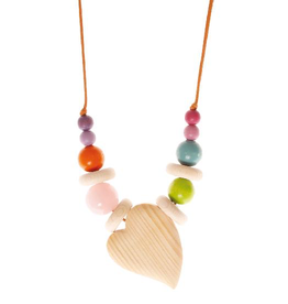 Grimm's Nursing necklace with rose quartz