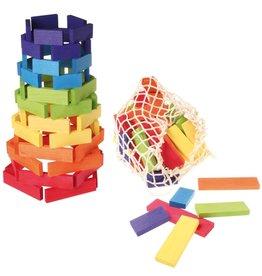Grimm's Building Bricks, Multi-Coloured 60 Pcs. (in Net Bag)