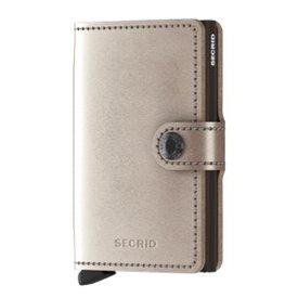 SECRID Secrid RFID Blocking Metallic Mini Wallet Champagne-Brown