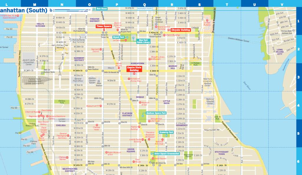 City Map Of New York City.Lonely Planet Lonely Planet New York City Map Wanderlust Store