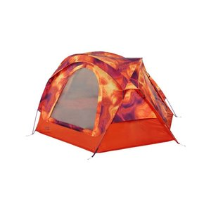 The North Face Homestead Domey 3 Person tent Tibetan Orange Heat Map Print/High Rise Grey