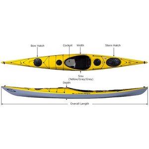 Current Designs Kayak Sisu Kevlar Lime/Smoke/Smoke/Gray -2019