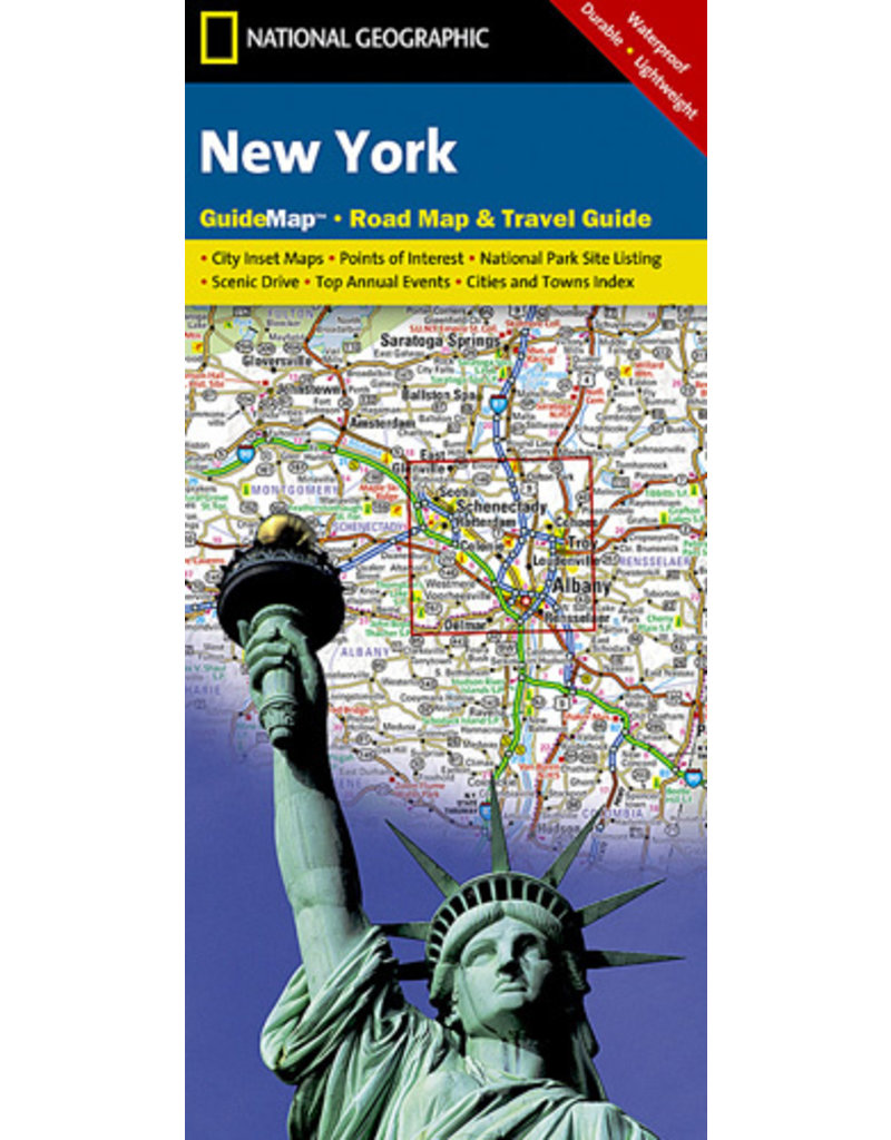 National Geographic Guide Map: New York