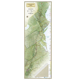 National Geographic Appalachian Trail Wall Map - Boxed