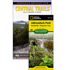 North Country Books Inc. ADK Mtn Club Guide Central Trails Map Pack 4th Edition