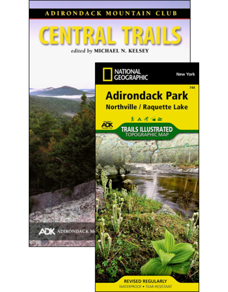 North Country Books Inc. ADK Mountain Club Guide Central Trails Map Pack 4th Edition