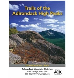Adirondack Mountain Club ADK Mtn Club Trails of the High Peaks Topographical Map