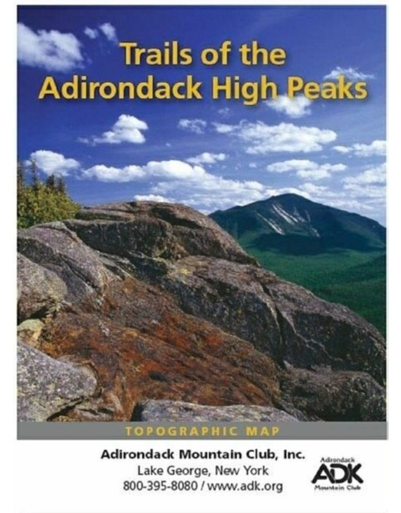 North Country Books Inc. ADK Mtn Club Trails of the High Peaks Topographical Map